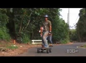 Electric Skateboards on Hawaiian Extreme Sports TV- circle Oahu island tour off road esk8 action